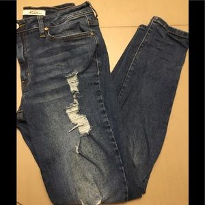 EUC KanCan high waisted ripped skinny jeans 28